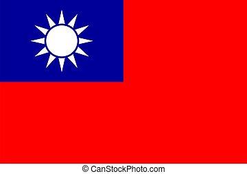 ufficiale, colori, taiwan, proporzione, bandiera, vector.