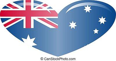 ufficiale, flag., colori, proporzione, correctly., bandiera australia, nazionale