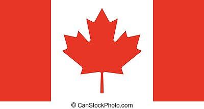ufficiale, vettore, bandiera, di, canada, .