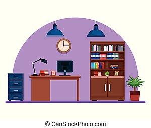 ufficio affari, posto lavoro