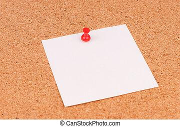 ufficio, cartolina sughero, per, note