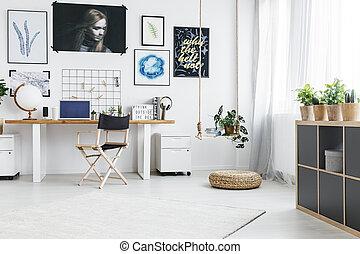 Piccolo Ufficio In Casa : Grande finestra moderno ufficio casa ufficio grande