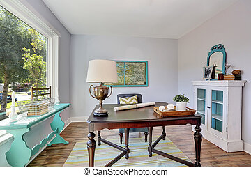 Ufficio Casa Legno : Stile vecchio ufficio legno vendemmia scrivania