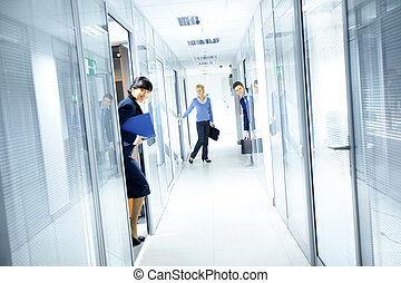 ufficio, corridoio