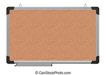 ufficio, magnetico, materiale, interpretazione, board., cork., 3d