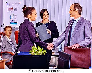 ufficio., persone affari