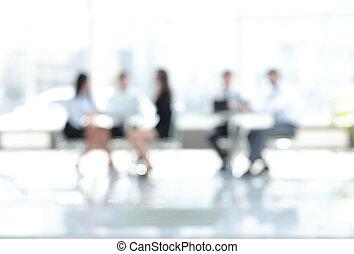 ufficio., persone, riunione, affari, image., sfocato
