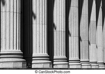 ufficio postale, colonne