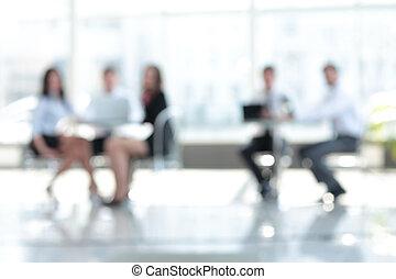 ufficio., riunione, image., squadra affari, sfocato