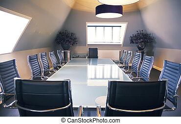 ufficio, vuoto, lusso