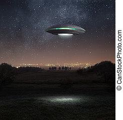 ufo, à noite