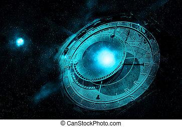 ufo, 中に, 外宇宙