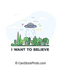UFO abduction illustration