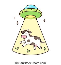 UFO abducts cow