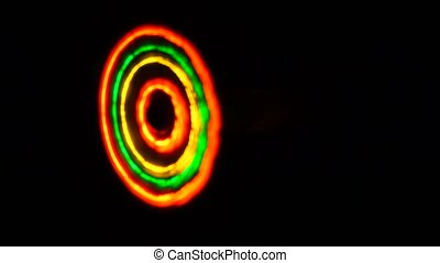 ufo abstract wheel on a black background