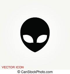 UFO alien saucer - unidentified flying object icon