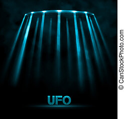 UFO background - Abstract UFO background, eps 10