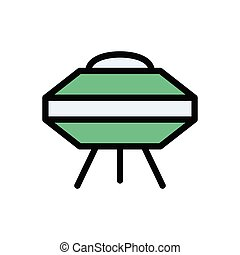 UFO  flat color icon
