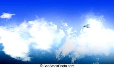 UFO flying over sky