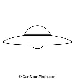 UFO. Flying saucer icon .