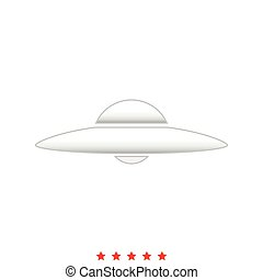 UFO. Flying saucer it is icon .