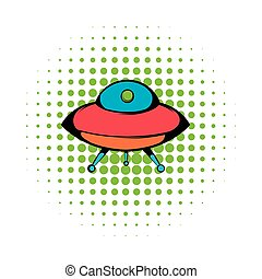 UFO icon, comics style