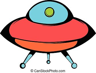 UFO icon, icon cartoon