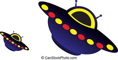 UFO. Invasion of aliens