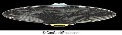 UFO - isolated on black
