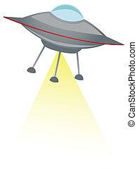 UFO shooting yellow beam