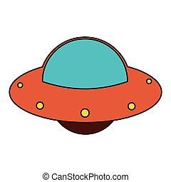 UFO spaceship fly image