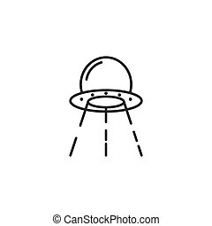 Ufo spaceship illustration vector flat design