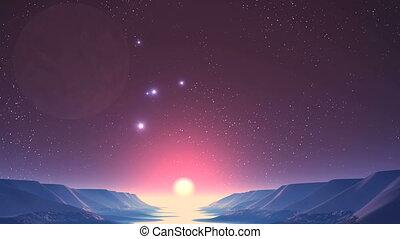UFO, Sunrise on Alien Planet