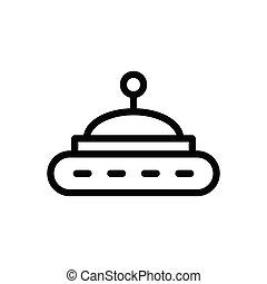 UFO  thin line icon