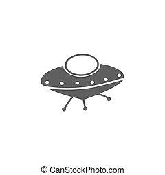 ufo, vector., ícone