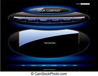 UFO website template
