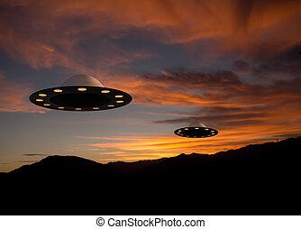 Alien invasion, real sunset!