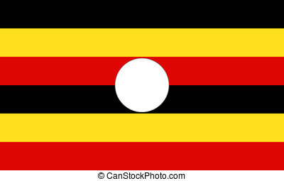 Mapa Coloreado Color País Bandera Nacional Uganda Resumen