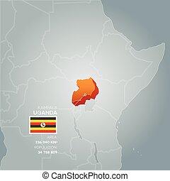 Uganda information map.