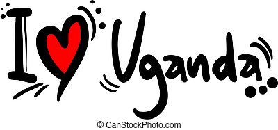 Uganda love - Creative design of Uganda love