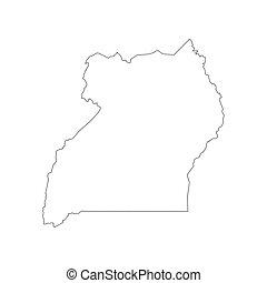 Uganda map outline