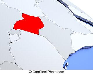 Uganda on world map