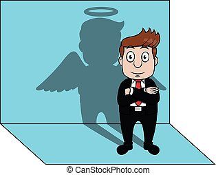 uggia, affari, angelo, uomo
