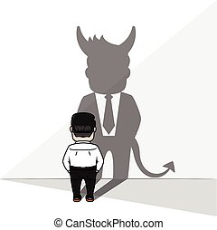 uggia, diavolo, uomo affari