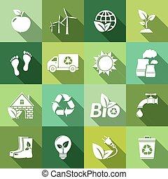 uggia, ecologia, lungo, icone