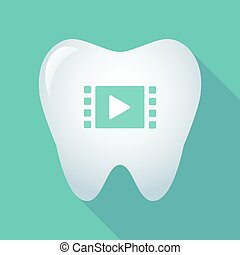uggia, multimedia, segno, lungo, dente
