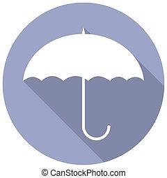 uggia, ombrello, lungo, icona