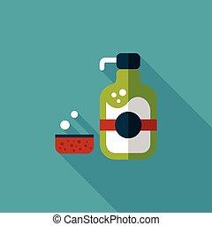 uggia, sapone, utensili cucina, piatto, pietanza, icona, ...