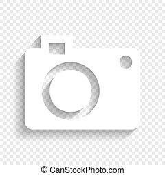 uggia, segno., fondo., macchina fotografica, vector., ...