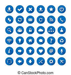 uggia, stile, lungo, icone